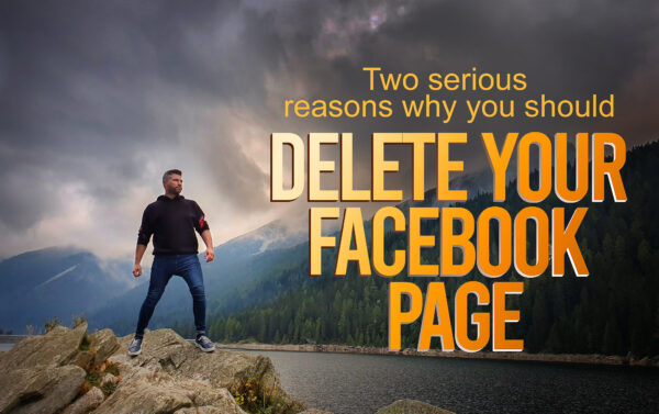 why you should delete your facebook page